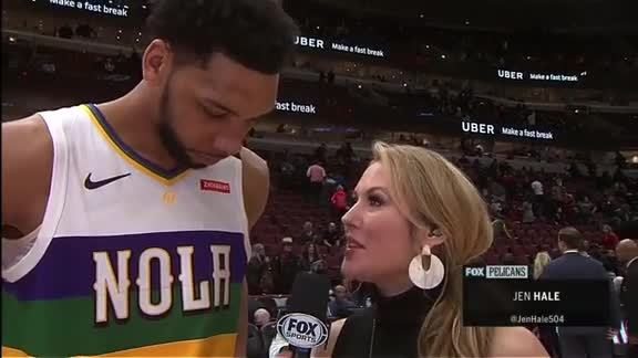 Pelicans On-Court Postgame Interview with Jahlil Okafor vs. Bulls
