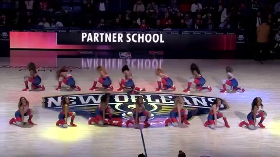 Pelicans Dance Team First Half Performance 02-12-19