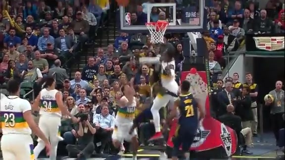 Cheick Diallo denies Collison | Pelicans at Pacers Highlights