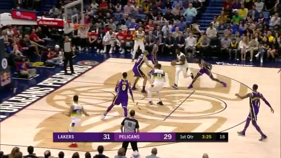 Julius Randle drive and dish to Diallo | Pelicans vs. Lakers Highlights