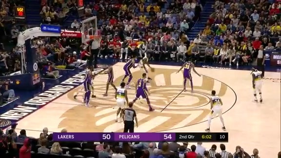 Kenrich Williams lights up from beyond the arc | Pelicans vs. Lakers Highlights