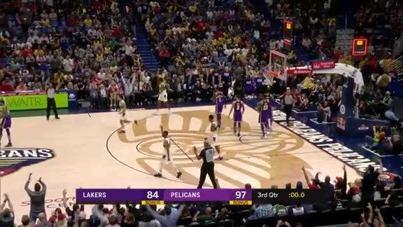 Holiday step-back three at the buzzer | Pelicans vs. Lakers Highlights