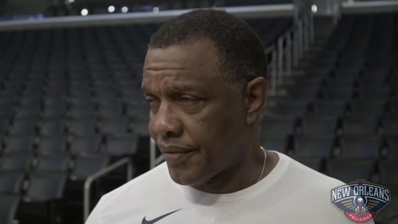 Pelicans at Lakers shootaround: Alvin Gentry 02-27-19