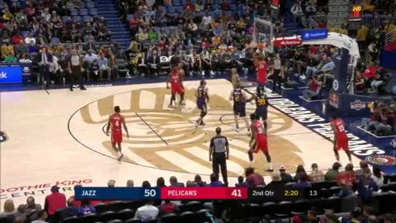 Anthony Davis drive and dunk | Pelicans vs. Jazz Highlights