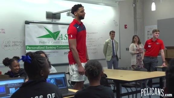 Pelicans host ASI Financial Literacy Event at Patrick Taylor Science and Technology Academy