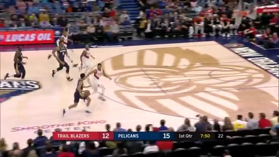 Frank Jackson with the steal and finesse | Pelicans vs. Trail Blazers Highlights