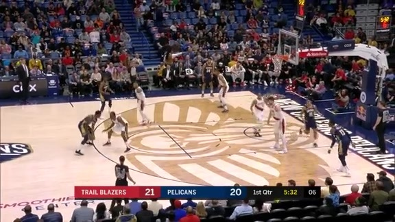 Julius Randle throws down 21 points in the first quarter | Pelicans vs. Trail Blazers Highlights
