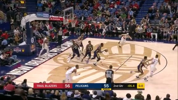 Cheick Diallo comes up with huge block to end the half | Pelicans vs. Trail Blazers Highlights