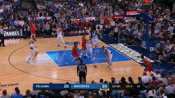 Ian Clark drains baseline runner l Pelicans at Mavericks Highlights