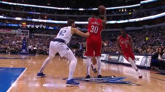 Ian Clark and Julius Randle give-and-go l Pelicans at Mavericks Highlights
