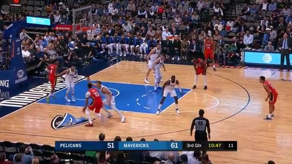 Anthony Davis cleans up around the rim l Pelicans at Mavericks Highlights