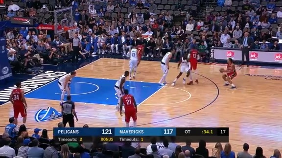 Frank Jackson with the dagger three pointer l Pelicans at Mavericks Highlights