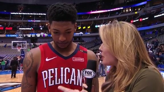 Elfrid Payton's court-side interview after his fifth consecutive triple-double