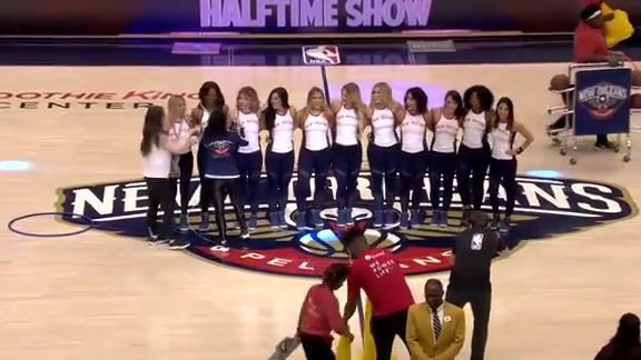 Halftime Performance: Pelicans Dance Team Olympics