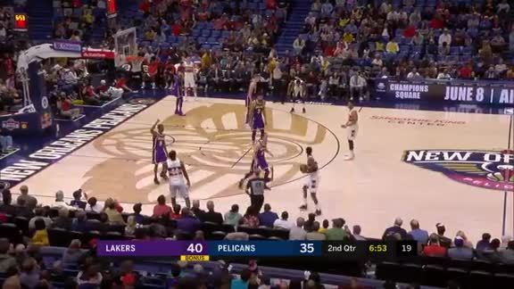 Dairis Bertans from way downtown | Pelicans vs. Lakers Highlights
