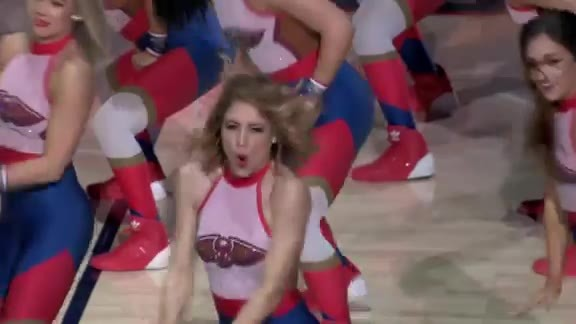Pelicans Dance Team second half performance 03-31-19