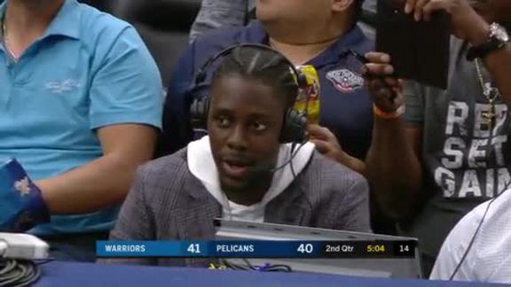 Pelicans vs. Warriors: Sideline Interview with Jrue Holiday