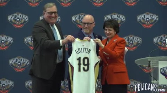 Pelicans introduce Executive VP of Basketball Operations David Griffin
