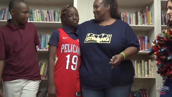 Chevron and Pelicans honor Boys and Girls Club student
