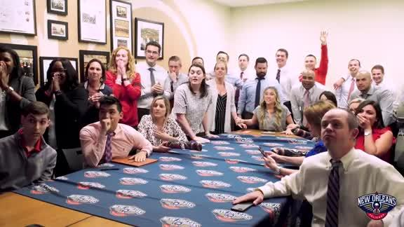 Pelicans staff react to winning the 2019 NBA Draft Lottery