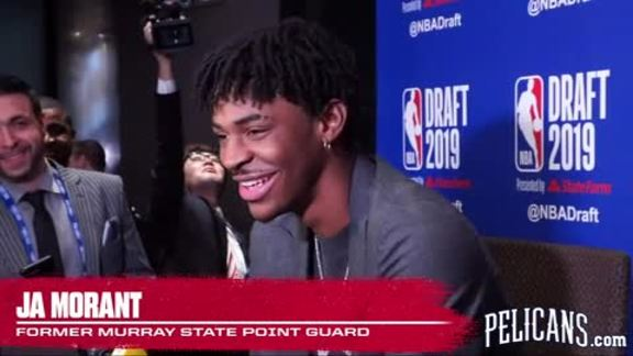 Ja Morant Pre-Draft Media Availability Part 1