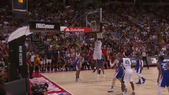 Zion finishes the 1st with another dunk vs Knicks | Pelicans Summer League Highlights