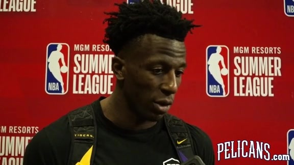 Pelicans-Wizards Postgame: Kavell Bigby-Williams 7-5-2019