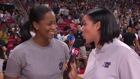 Swin Cash Summer League Interview