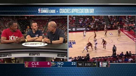 Pelicans Alvin Gentry and Cavs John Beilein Interview at 2019 Summer League