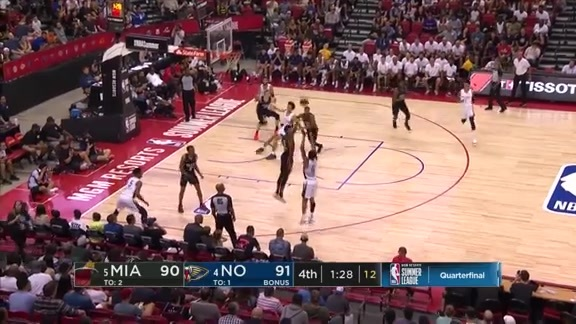 Nickeil with 14 in the 4th | Pelicans-Heat Summer League Quarterfinals