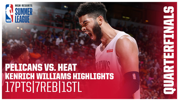 Kenrich Williams with 17 in Summer League Quarterfinals | Pelicans-Heat Highlights