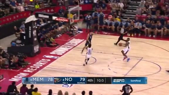Nickeil with a Pair of Clutch Steals Late | Pelicans-Grizzlies Summer League Highlights