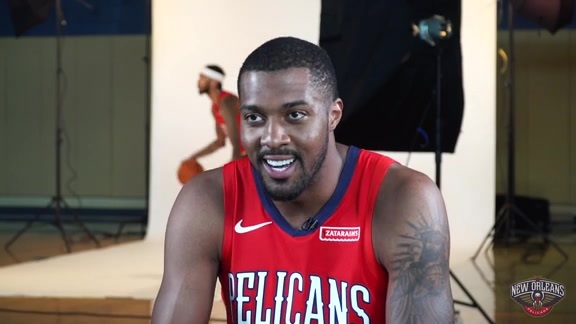 Derrick Favors sits down with Pelicans Radio's Todd Graffagnini