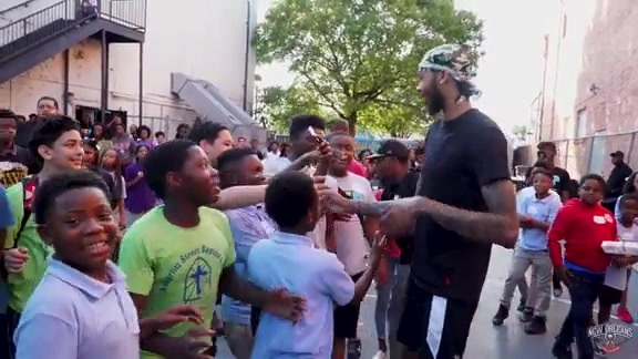 Brandon Ingram visits The Youth Empowerment Project