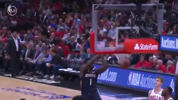 Pelicans at Bulls Highlights: Zion Williamson Spins and Slams