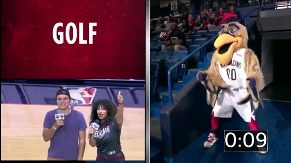 Entertainment: Pierre T. Pelican plays Charades – October 11 vs. Utah Jazz