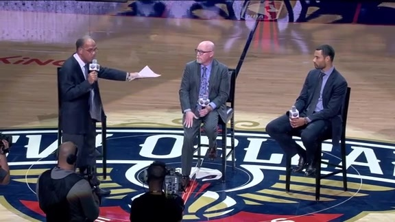 Halftime: Pelicans Q&A with David Griffin and Trajan Langdon