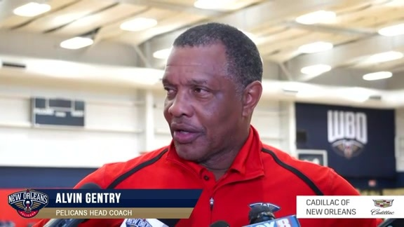 Pelicans Practice: Alvin Gentry Interview 10-15-19