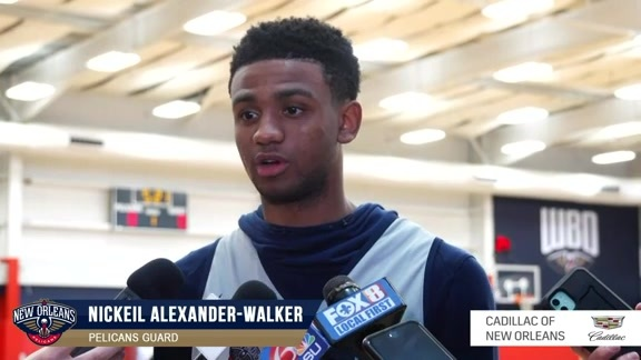 Pelicans Practice: Nickeil Alexander-Walker Interview 10-15-19