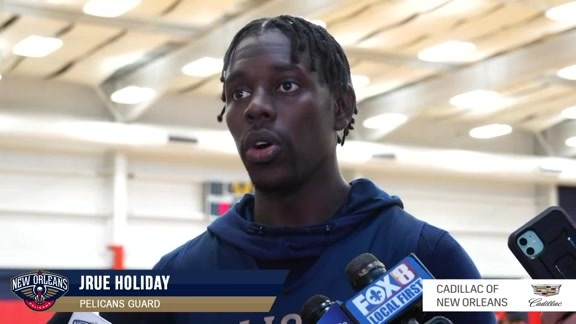 Pelicans Practice: Jrue Holiday Interview 10-15-19