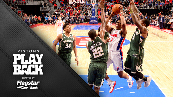 Pistons Playback crafted by Flagstar: Pistons vs Bucks