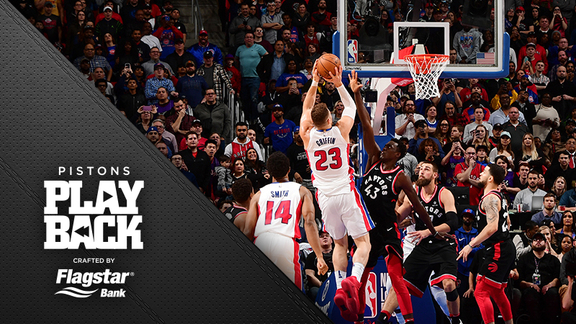 Pistons Playback crafted by Flagstar: Pistons vs Raptors