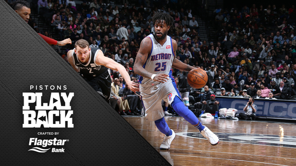 Pistons Playback crafted by Flagstar: Pistons at Nets