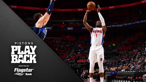 Pistons Playback crafted by Flagstar: Pistons vs Mavericks