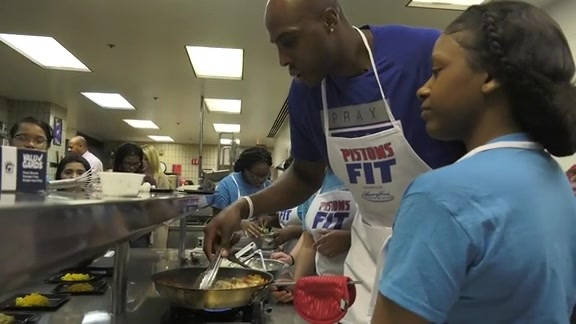 Pistons Fit: Ready, Set, Cook Competition