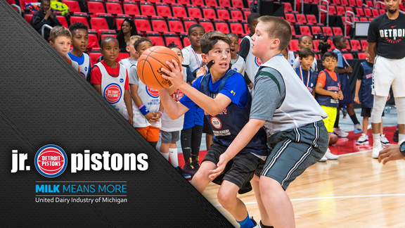 Jr. Pistons, presented by Milk Means More: Summer Basketball Camp at Little Caesars Arena