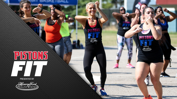 Pistons Fit: Zumba on Belle Isle