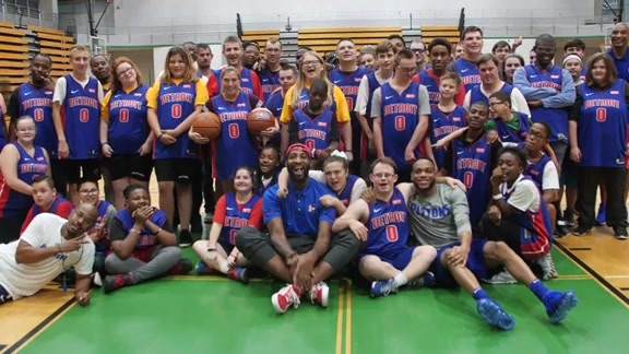 Pistons in the Community: Special Olympics Clinic