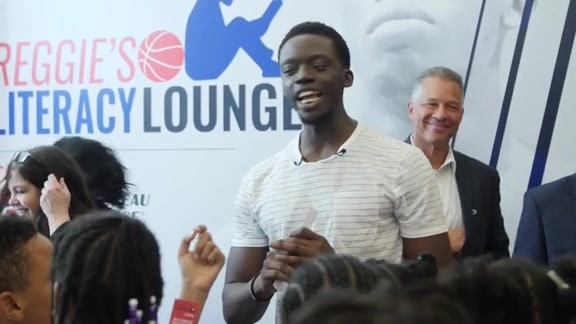 Pistons in the Community: Reggie Jackson Marquette Literacy Lounge
