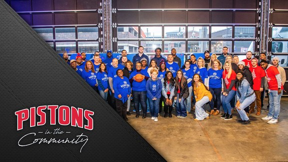 Pistons in the Community: Pistons Giveback Event